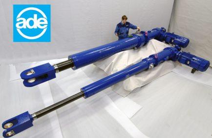 ADE, электроцилиндры для затворов гидротехнических сооружений